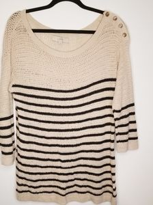 Anne Taylor Loft button shoulder sweater